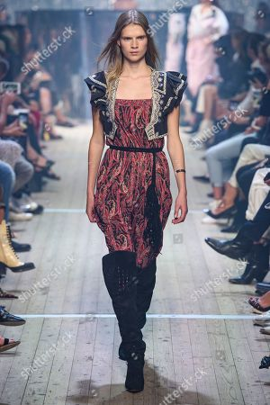 Stock Image of Sara Eirud on the catwalk