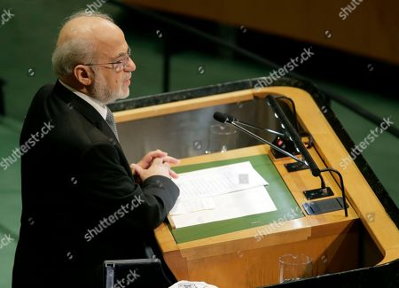 Iraq's Minister for Foreign Affairs Ibrahim Abdulkarim Al-Jafari addresses the 73rd session of the United Nations General Assembly, at U.N. headquarters