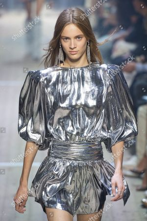 Editorial picture of Isabel Marant show, Runway, Spring Summer 2019, Paris Fashion Week, France - 27 Sep 2018