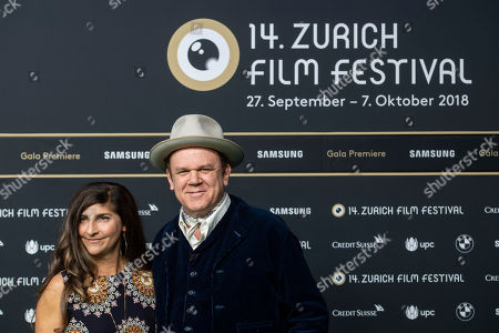 US actor/cast member John C. Reilly (R) poses with wife Alison Dickey on the Green Carpet before the screening of 'The Sisters Brothers' at the 14th Zurich Film Festival (ZFF) in Zurich, Switzerland, 28 September 2018. The festival runs from 27 September to 07 October.