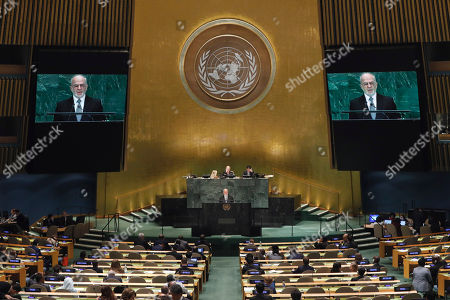 Iraq's Foreign Minister Ibrahim al-Jaafari addresses the 73rd session of the United Nations General Assembly, at U.N. headquarters