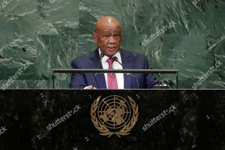 Editorial photo of UN General Assembly Lesotho - 28 Sep 2018