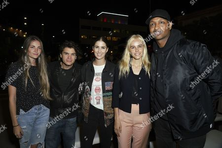 Stock Image of Emile Hirsch, Isabel Lucas and guests