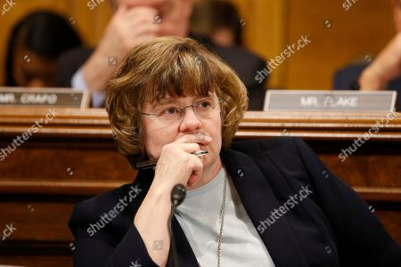 Rachel Mitchell listens to Dr. Christine Blasey Ford at the Senate Judiciary Committee hearing on the nomination of Brett Kavanaugh to be an associate justice of the Supreme Court of the United States, on Capitol Hill in Washington, DC, USA, . US President Donald J. Trump's nominee to be a US Supreme Court associate justice Brett Kavanaugh is in a tumultuous confirmation process as multiple women have accused Kavanaugh of sexual misconduct