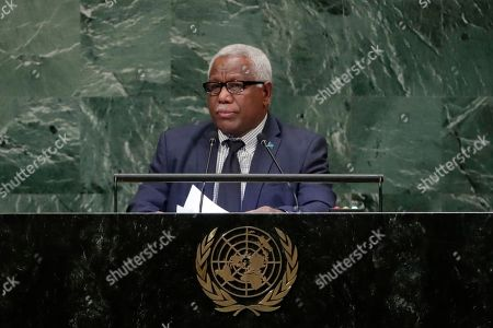 Prime Minister of Solomon Islands, Rick Houenipwela addresses the 73rd session of the United Nations General Assembly, at the United Nations headquarters