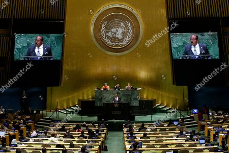 Stock Photo of Antigua and Barbuda's Prime Minister Gaston Alphonso Browne addresses the 73rd session of the United Nations General Assembly, at the United Nations headquarters