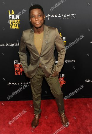 """Stock Photo of Mpho Koaho arrives at the world premiere of """"Nomis"""" during the closing night of the Los Angeles Film Festival, at the ArcLight Cinerama Dome"""