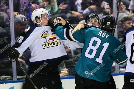 Editorial photo of AHL Hockey San Jose Barracuda vs Colorado Eagles, Loveland, USA - 28 Sep 2018