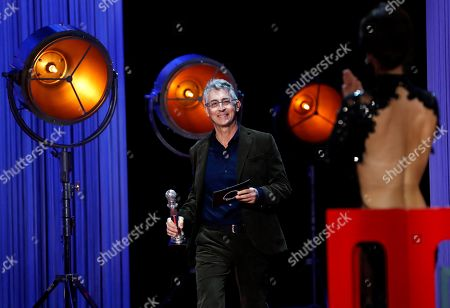 Stock Photo of President of the Jury, Alexander Payne reacts during the closing ceremony of the San Sebastian International Film Festival, in San Sebastian, Basque Country, Spain, 29 September 2018. The 66th edition of the SSIFF runs from 21 to 29 September.