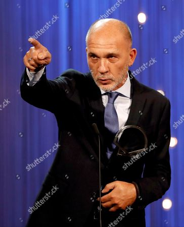 Actor Dario Grandinetti receives the Silver Shell for Best Actor, during the 66 San Sebastian International Film Festival closing gala, in San Sebastian, Spain, 29 September 2018. The 66th edition of the SSIFF runs from 21 to 29 September.