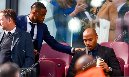 Patrice Evra and Thierry Henry in the Directors Box