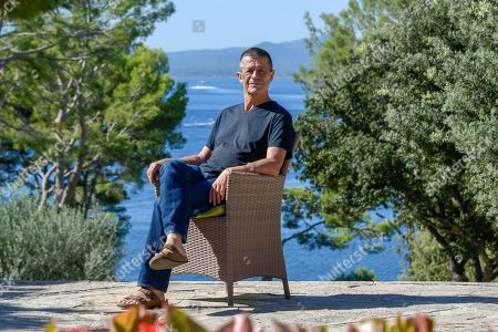 Stock Picture of French journalist Emmanuel Carrere meets media in Pollenca, Majorca, Spain, 29 September 2018.