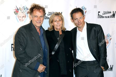 Charles Berling, Claire Chazal and Marc-Olivier Fogiel