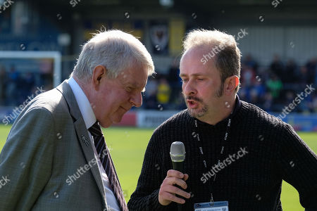 John Motson is a special guest during AFC Wimbledon vs Oxford United, Sky Bet EFL League 1 Football at the Cherry Red Records Stadium on 29th September 2018