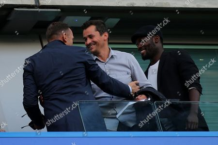 Former Chelsea and Manchester United Coach, Rui Faria, greets Ex Chelsea player, Andily Shevchenko, pre-match during Chelsea vs Liverpool, Premier League Football at Stamford Bridge on 29th September 2018