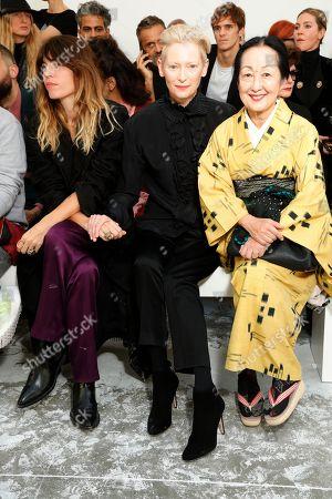 Lou Doillon, Tilda Swinton, Setsuko Klossowska de Rola in the front row