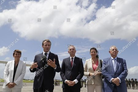 Editorial photo of French President Macron visits, Pointe-à-Pitre, Guadeloupe - 28 Sep 2018