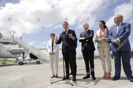 Editorial image of French President Macron visits, Pointe-à-Pitre, Guadeloupe - 28 Sep 2018