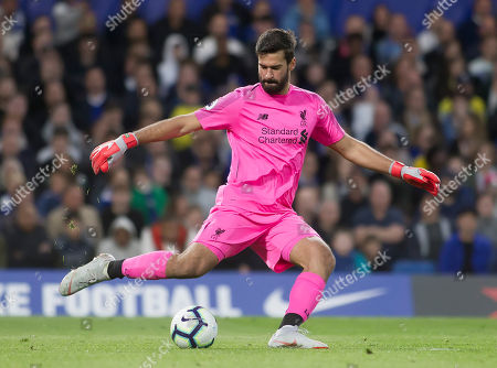 Alison Becker of Liverpool in action