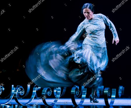 Stock Image of Spanish flamenco dancer or 'bailaora' Eva Yerbabuena performs on stage during the 20th Flamenco Biennial in Seville, Spain, 29 September 2018.