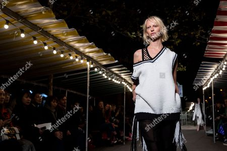 New Zealand's model Lili Sumner presents a creation from the Spring/Summer 2019 Women's collections by French designer Julie de Libran for Sonia Rykiel fashion label during the Paris Fashion Week, in Paris, France, 29 September 2018. The presentation of the Women's collections runs from 24 September to 02 October.