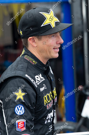 Tanner Foust #34 at the World Rallycross Championship signing autographs, Circuit of the Americas. Austin, Texas