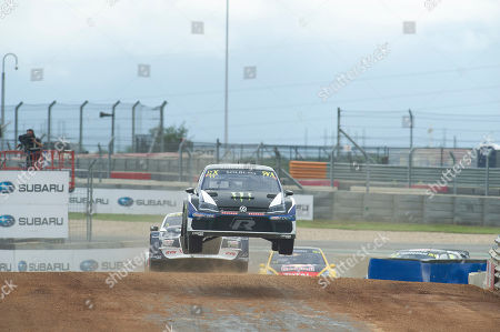Petter Solberg #11 with Team PSRX Volkswagen Sweden in action Qualifying 1 at the World Rallycross Championship, Circuit of the Americas. Austin, Texas