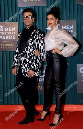 Director Karan Johar and Deepika Padukone