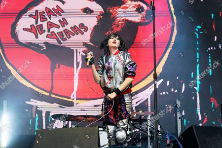 Karen O (born Karen Oraolek) of the Yeah Yeah Yeahs seen at Ohana Festival at Doheny State Beach, in Dana Point, Calif