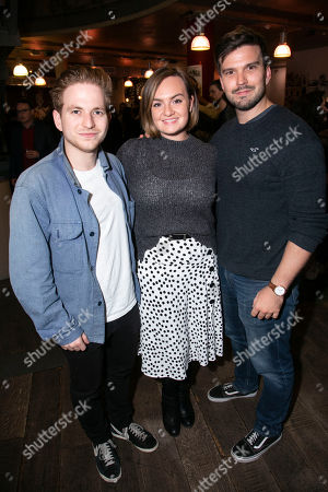 Stock Photo of Harry McEntire, Charlotte Wakefield and Marc Rhys