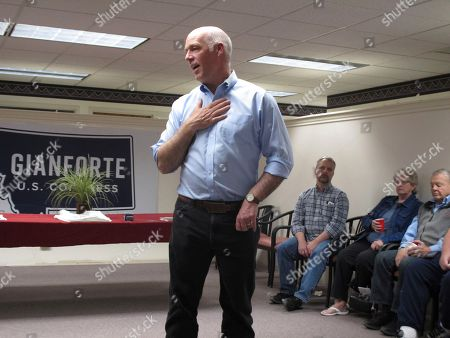U.S. Rep. Greg Gianforte, R-Montana, speaks at a campaign rally in Helena, Mont. Gianforte is facing Democratic challenger Kathleen Williams and Libertarian candidate Elinor Swanswon in a debate Saturday night, Sept. 29