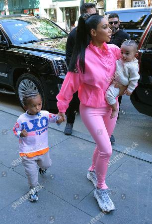 Stock Image of Kim Kardashian West, Chicago West, Saint West