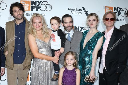 Alex Ross Perry, director, Elisabeth Moss (holding Clive Piotrowicz),Daisy Pugh-Weiss, Adam Piotrowicz, producer, Gayle Rankin and Eric Stoltz