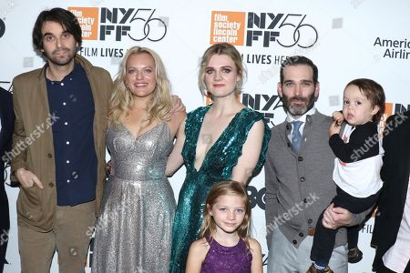 Stock Image of Alex Ross Perry, director, Elisabeth Moss, Gayle Rankin, Daisy Pugh-Weiss and Adam Piotrowicz, producer (holding Clive Piotrowicz)