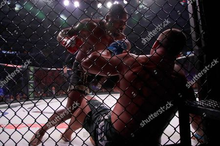 Wanderlei Silva, Quinton Jackson. Quinton Jackson, rear, punches Wanderlei Silva during a heavyweight mixed martial arts bout at Bellator 206 in San Jose, Calif., . Jackson won by technical knockout in the second round