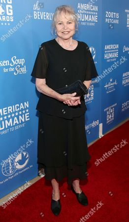 Michelle Phillips is seen at the 2018 American Humane Hero Dog Awards at The Beverly Hilton, in Beverly Hills, Calif