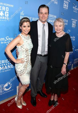 Lois Hines, Austin Hines, Michelle Phillips. Lois Hines, from left, Austin Hines and Michelle Phillips are seen at the 2018 American Humane Hero Dog Awards at The Beverly Hilton, in Beverly Hills, Calif