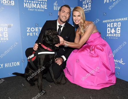 Stock Image of Brandon McMillan, Beth Stern. Brandon McMillan, left, and Beth Stern are seen at the 2018 American Humane Hero Dog Awards at The Beverly Hilton, in Beverly Hills, Calif
