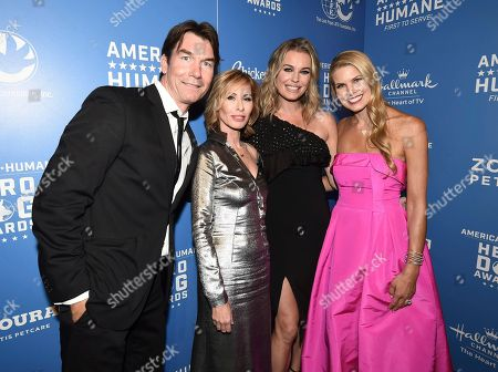 Jerry O'Connell, Carole Radziwill, Rebecca Romijn, Beth Stern. Jerry O'Connell, from left, Carole Radziwill, Rebecca Romijn and Beth Stern are seen at the 2018 American Humane Hero Dog Awards at The Beverly Hilton, in Beverly Hills, Calif