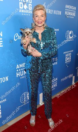 Lois Pope is seen at the 2018 American Humane Hero Dog Awards at The Beverly Hilton, in Beverly Hills, Calif