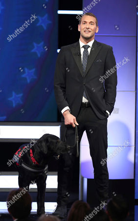 Brandon McMillan appears on stage at the 2018 American Humane Hero Dog Awards at The Beverly Hilton, in Beverly Hills, Calif