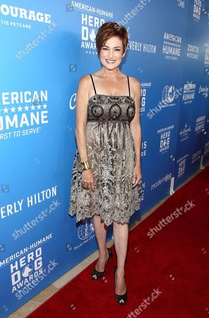 Carolyn Hennesy is seen at the 2018 American Humane Hero Dog Awards at The Beverly Hilton, in Beverly Hills, Calif
