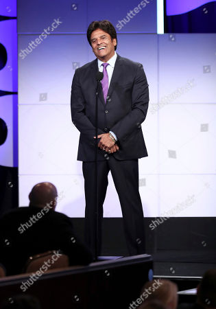 Erik Estrada speaks at the 2018 American Humane Hero Dog Awards at The Beverly Hilton, in Beverly Hills, Calif
