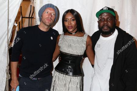 Chris Martin, Naomi Campbell and Kweku Mandela