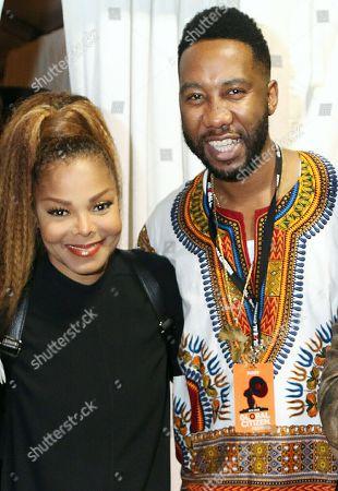 Janet Jackson and Ndaba Mandela