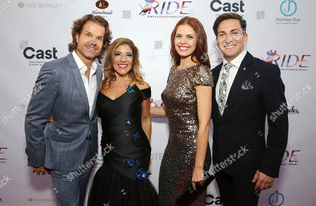 Louis van Amstel, Robyn Shreiber, Anna Trebunskaya, Italo Elgueta. Louis van Amstel, Robyn Shreiber, Anna Trebunskaya and Italo Elgueta seen at the RIDE Foundation Dance for Freedom Gala at The Broad Stage, in Santa Monica, Calif