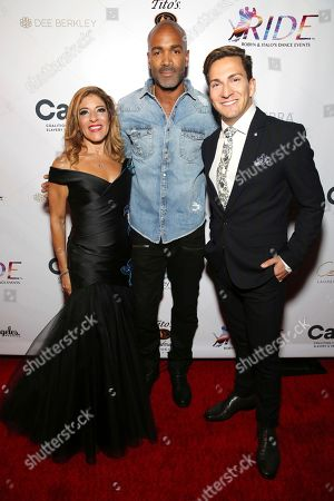 Stock Picture of Robyn Shreiber, Donnell Turner, Italo Elgueta. Robyn Shreiber, Donnell Turner and Italo Elgueta seen at the RIDE Foundation Dance for Freedom Gala at The Broad Stage, in Santa Monica, Calif