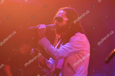Stock Image of Singer Jay de la Cueva of Moderatto