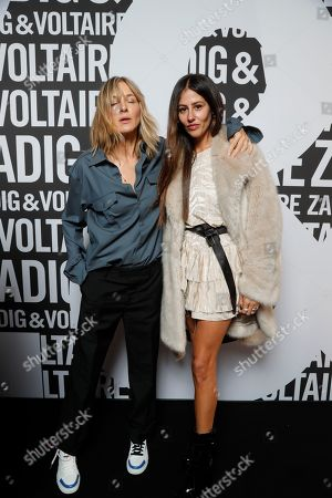 Cecilia Bonstrom and model backstage