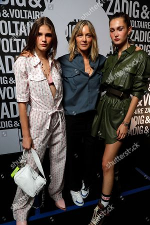 Cecilia Bonstrom and models backstage